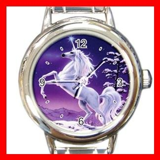 Unicorn Myth In Front of Moon Italian Charm Wrist Watch 068