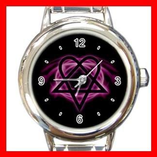 Pink Heartagram Italian Charm Wrist Watch 071