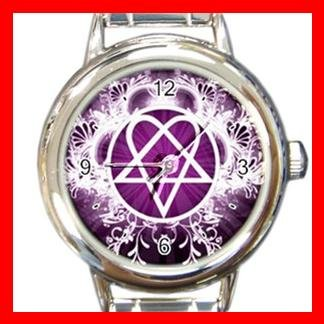 Pink Heartagram Italian Charm Wrist Watch 072