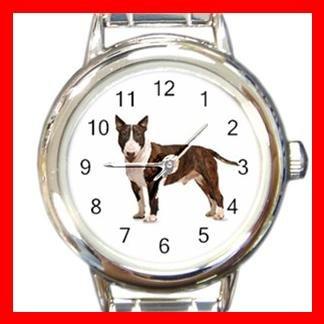 Bull Terrier Dog Pet Animal Italian Charm Wrist Watch 073