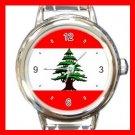 Lebanese Flag Italian Charm Wrist Watch 078