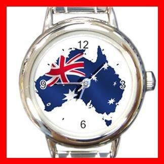 Australian Flag Italian Charm Wrist Watch 083