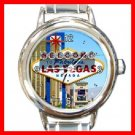 Welcome Las Vegas Italian Charm Wrist Watch 092