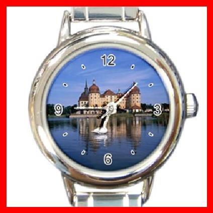 Castle Around Lake Italian Charm Wrist Watch 095