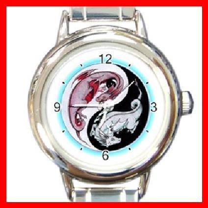 Yin Yang Dragons Myth Italian Charm Wrist Watch 105
