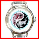 Yin Yang Dragons Myth Italian Charm Wrist Watch 105