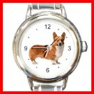 Welsh Corgi Dog Pet Animal Italian Charm Wrist Watch 106