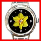Daffodil Yellow Flower Italian Charm Wrist Watch 115