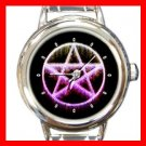 Wicca Pentagram Pentacle Italian Charm Wrist Watch 120