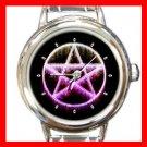 Wicca Pentagram Pentacle Italian Charm Wrist Watch 120