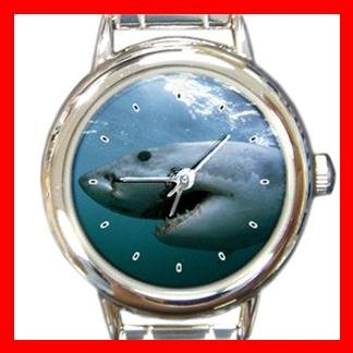 Great White Shark Italian Charm Wrist Watch 129