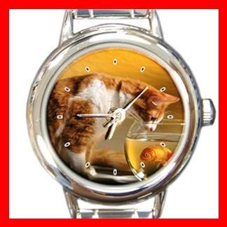 Cat Going Fishing Italian Charm Wrist Watch 131