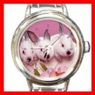 Rabbits Rabbit Animal Italian Charm Wrist Watch 138