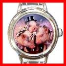 Lovely Pig Animal Italian Charm Wrist Watch 139