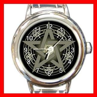 WICCA PENTACLE Round Italian Charm Wrist Watch 144
