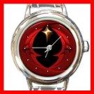 Darksome Night Shining Moon Round Italian Charm Wrist Watch 145