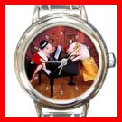 Lovely Pig Round Italian Charm Wrist Watch 147