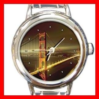 San Francisco Golden Gate Bridge Round Italian Charm Wrist Watch 149