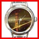 San Francisco Golden Gate Bridge Round Italian Charm Wrist Watch 149