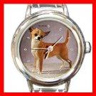 Chihuahua Dog Round Italian Charm Wrist Watch 154