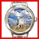 Art Summer Horse Blue Sky Round Italian Charm Wrist Watch 158