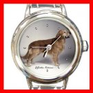 Golden Retriever Dog Round Italian Charm Wrist Watch 162