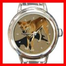 The Desert Dingo Australian Round Italian Charm Wrist Watch 171