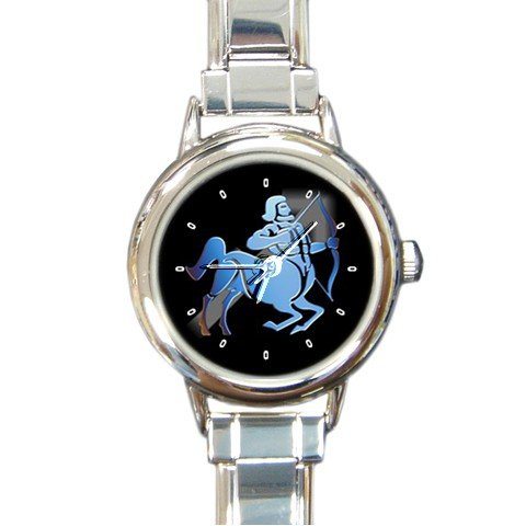 Zodiac Sagittarius Round Italian Charm Wrist Watch 175