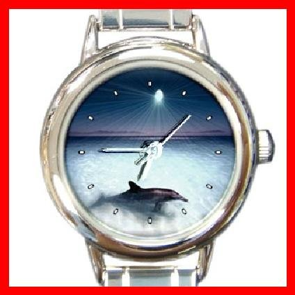 Enchanted Dolphin Round Italian Charm Wrist Watch 178