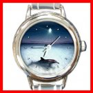 Enchanted Dolphin Round Italian Charm Wrist Watch 178