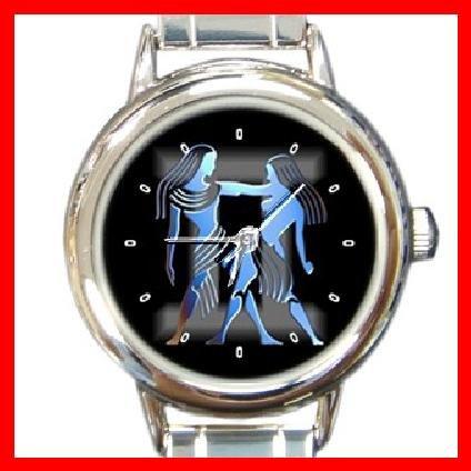 Zodiac Gemini Round Italian Charm Wrist Watch 179
