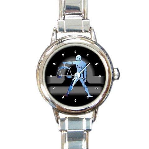 Zodiac Libra Round Italian Charm Wrist Watch 182