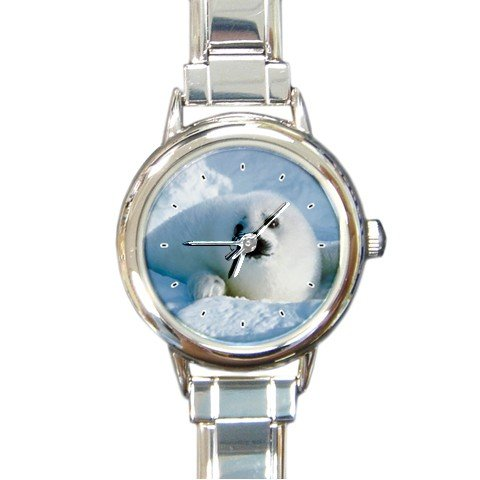 Seals Animal Round Italian Charm Wrist Watch 185