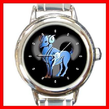 Zodiac Aries Round Italian Charm Wrist Watch 186