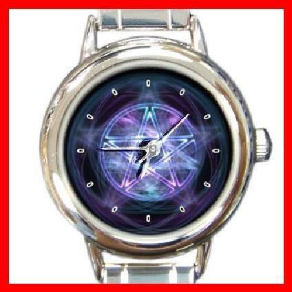 Pentagram Round Italian Charm Wrist Watch 193