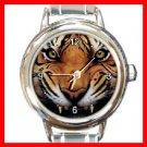 Tiger Growl Round Italian Charm Wrist Watch 197