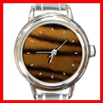 Tiger Skin Round Italian Charm Wrist Watch 198