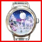 Unicorn Moon Myth Round Italian Charm Wrist Watch 199