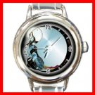 CELESTIAL Moon Wolf Round Italian Charm Wrist Watch 202