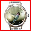 Humming Bird Animal Round Italian Charm Wrist Watch 203