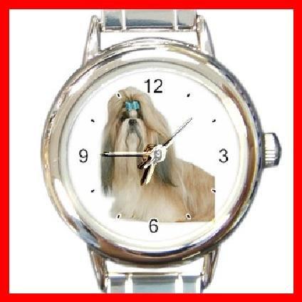 Shihtzu Dog Pet Animal Round Italian Charm Wrist Watch 212