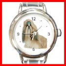 Shihtzu Dog Pet Animal Round Italian Charm Wrist Watch 212
