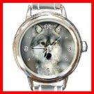Grey Wolf Animal Round Italian Charm Wrist Watch 215