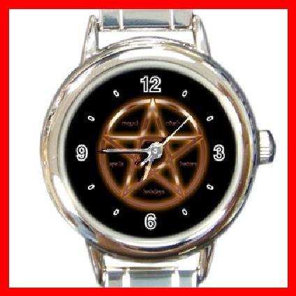WICCA WICCAN PAGAN Round Italian Charm Wrist Watch 217