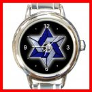 Star Of David Round Italian Charm Wrist Watch 218
