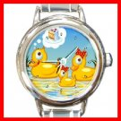 Rubber Duck Family Round Italian Charm Wrist Watch 228
