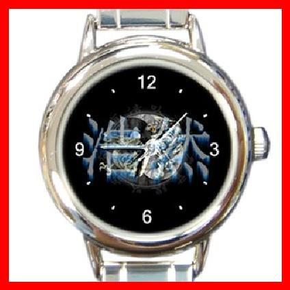 Tiger Dragon Yin Yang Round Italian Charm Wrist Watch 229
