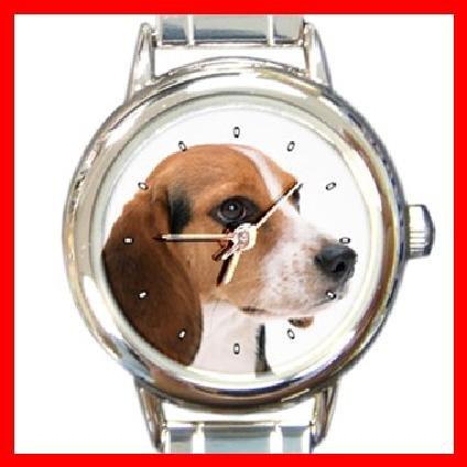 Beagle Dog Pet Animal Round Italian Charm Wrist Watch 231
