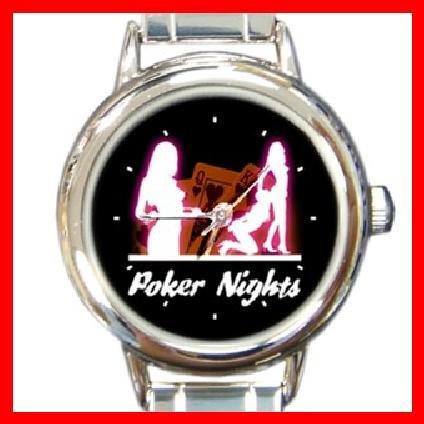 Poker Nights Round Italian Charm Wrist Watch 238