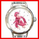 Pink Monkey Animal Round Italian Charm Wrist Watch 239